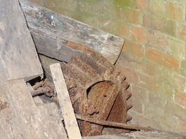 Unidentified gearwheel, tower mill, Upper Dean