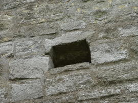 Flue in tower wall, tower mill, New Bradwell