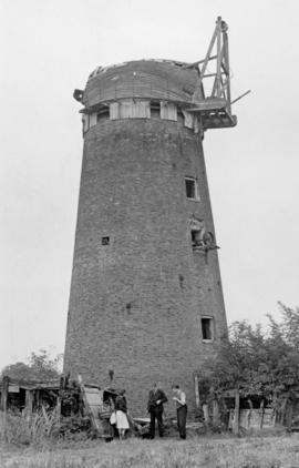 Unidentified tower mill in a state of disrepair