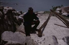 China - Kaili. Ping Liang. Cutting up bamboo.
