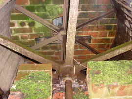 Albourne, Sussex, waterwheel reconstruction