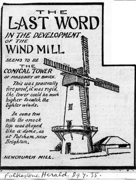 """The Last Word in the Development of the Windmill - Newchurch Mill"""