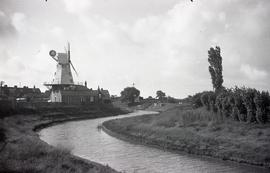 """Replacement (wrongly proportioned) of the smock mill burnt down, Rye, Sussex"""