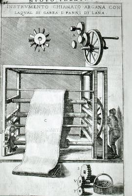 """Zonca 1607, 'Gig' raising machine for cloth"""