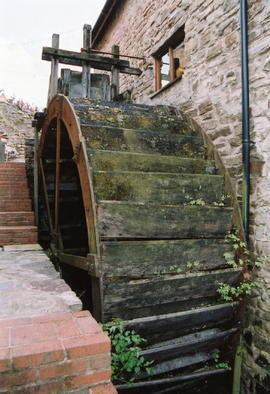 Manor Mill, Bampton, waterwheel cast by Bodley for G Davey & Sons 1