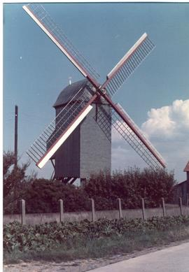 Preserved Belgian post mill, summer 1973