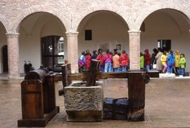 """Fabriano museum - Stampers in courtyard"""