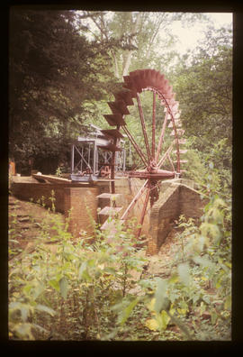 Wheel with paddles, Painshill Park Waterwheel, Cobham, Surrey