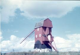 Preserved post mill at unidentified location in Sweden, summer 1974