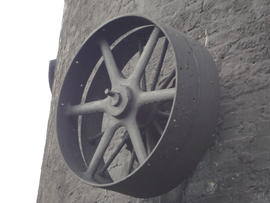 External engine drive pulley, tower mill, Waltham
