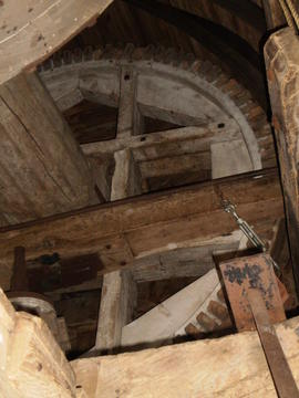Brakewheel and windshaft, post mill, Rolvenden