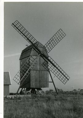 Post mill(2) at Bjornhovda on island of Oland, Sweden, summer 1974