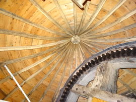 Brakewheel and cap roof framing, Heckington Windmill, Heckington