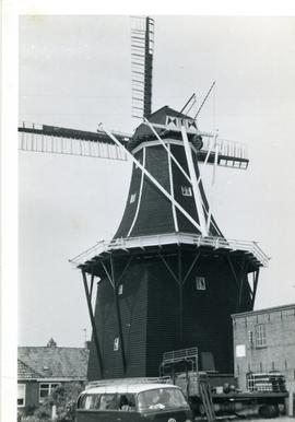 Preserved Dutch smock mill, location unknown, 1971