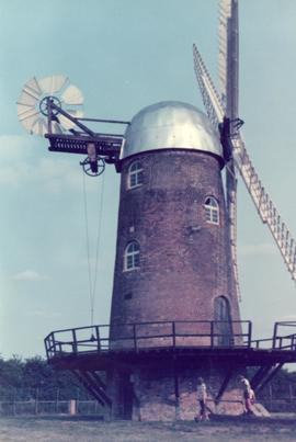 Exterior view, tower mill, Wilton, Wiltshire
