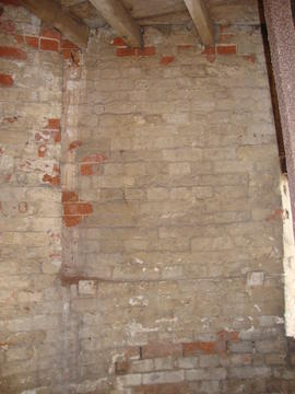 Detail of internal tower wall, tower mill, Ullesthorpe