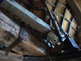 Cap frame and brake lever, Stansted Windmill, Stansted Mountfitchet