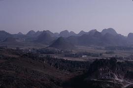 China, Luoping View of conical hills