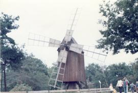 Post mill at open-air museum in Sweden, summer 1974