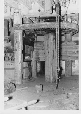North Mill, South Petherton, internal, crown wheel and stones