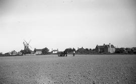 """Distant view, Windmill at Barnham, Sussex"""
