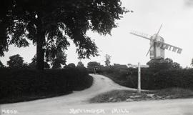 """Windmill at Bovinger, Essex - copy negative"""
