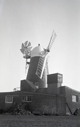 """Shown with only two sails, Windmill at Barnham, Sussex"""