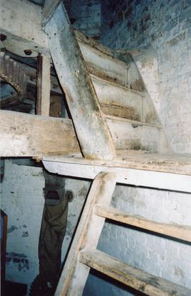 Split level steps from spout to stone floor, Impington Mill, Histon and Impington