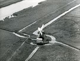 Herringfleet Smock Mill, Suffolk, aerial photograph