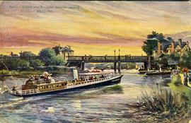 """Salter's Oxford and Kingston Steamer passing READING"""