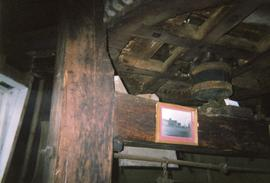 Great spur wheel and upright shaft support frame, North Common Mill, North Chailey