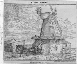 """A Kent Windmill - Willesborough Mill near Ashford"""