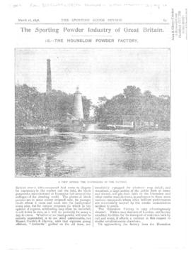 """The sporting powder industry of Great Britain III - The Hounslow powder factory"""