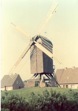 Preserved Belgian post mill, 1974