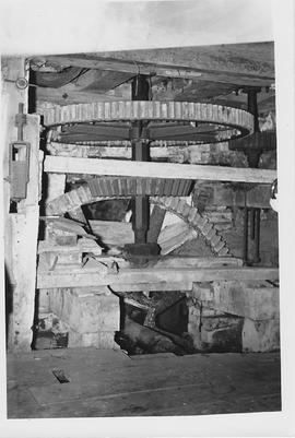 Syreford Mill, Syreford, internal, pit wheel, wallower, spur wheel