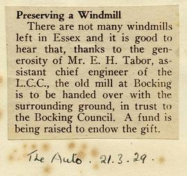 """Preserving a windmill"""