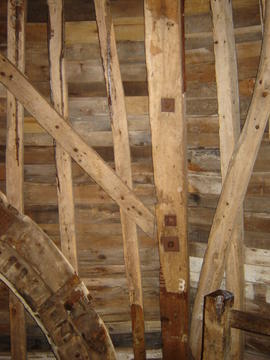 Detail of dust floor framing, Lacey Green Windmill, Lacey Green