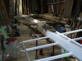 Sails for Hardley Mill being manufactured