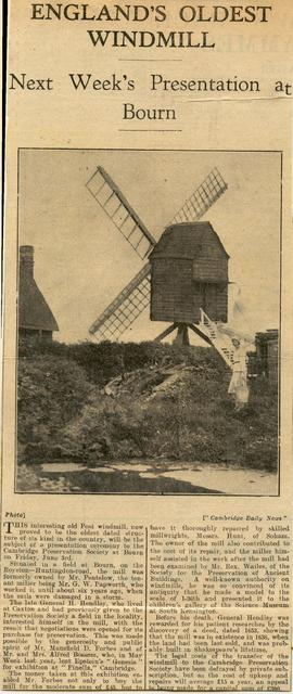 """England's oldest windmill"""