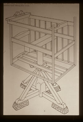 Structure of a post mill, framing