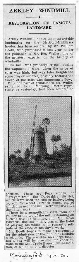 """Arkley Windmill - restoration of Famous Landmark"""