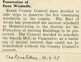 """Preservation of Essex windmills"""