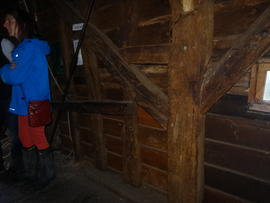 Spout floor side framing, post mill, Bourn