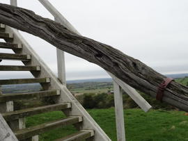 Tailpole and ladder, Brill Windmill, Brill