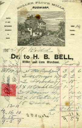 Mr and Mrs Kidd's Account with H.B. Bell