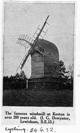 """The famous windmill at Keston is over 200 years old"""