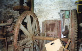 Thirlby Mill, St Columb Major, line  shaft gearing
