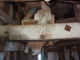 Part of framework supporting upright shaft, New Mill, Cross in Hand