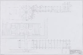 Designs of waterwheel, flume and hurst frame decking