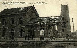 """The ruins of Zarren-near-Dixmude 1914-1918 The station and the mill"""